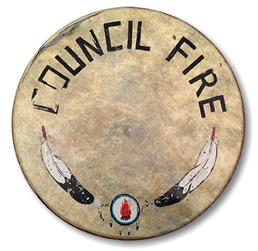 Council Fire Drum